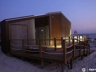 Bar Quiosque de Praia Casas modernas por Ideawood - Casas de Madeira Moderno