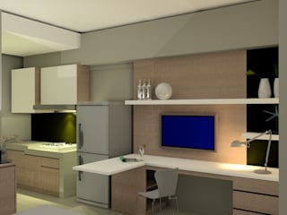 Interior Studio Bandara City Apartment :   by PT. PANCAR KREASI ABADI