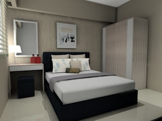 Interior 1 Bedroom Bandara City Apartment:   by PT. PANCAR KREASI ABADI