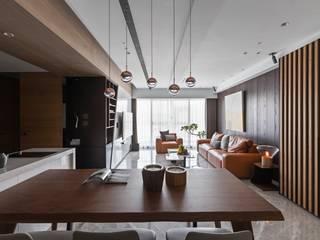 Dining room by 築川設計, Modern