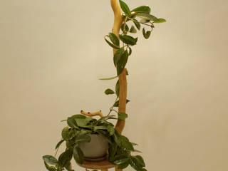 Lampa podłogowa, kwietnik, stolik kawowy, lampa z gałęzi od Meble Autorskie Jurkowski Industrialny