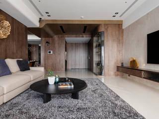 Livings de estilo moderno de 築川設計 Moderno