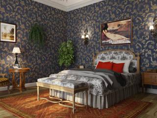 Интерьер спальной: Спальни в . Автор – Novik Design