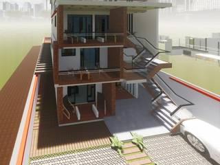 EDIFICIO DE DEPARTAMENTOS RESIDENCIAL DE LUJO Casas modernas de Grupo Viesa Moderno