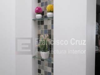 Francisco Cruz Arquitectura Interior Baños modernos Cerámico Blanco