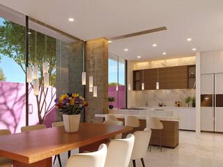 Laboratorio Mexicano de Arquitectura ห้องทานข้าว Pink