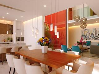 Modern Dining Room by Laboratorio Mexicano de Arquitectura Modern
