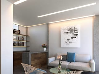 Laboratorio Mexicano de Arquitectura Living room White
