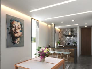 Laboratorio Mexicano de Arquitectura Modern dining room White