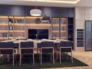 nội thất chung cư Phòng ăn phong cách Bắc Âu bởi Archilives Bắc Âu