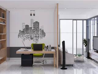 nội thất biệt thự phố Q2:  Phòng học/Văn phòng by AcilB Design
