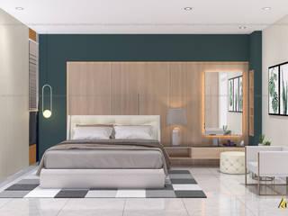 nội thất biệt thự phố Q2 Phòng ngủ phong cách hiện đại bởi Archilives Hiện đại