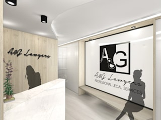 A & G LAWYERS INTERIOR DESIGN PROJECT Modern study/office by Loft 26 Modern