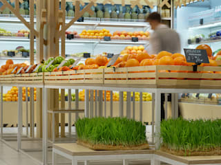Fresh & Go. Design of a fresh bar Negozi & Locali commerciali in stile minimalista di YUDIN Design Minimalista