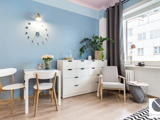 Scandinavian style dining room by DoMilimetra Scandinavian