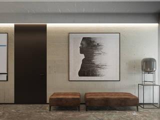 Ingresso, Corridoio & Scale in stile moderno di Exit Pracownia Projektowa Moderno