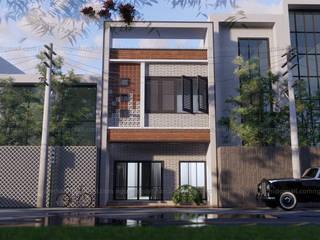 Nhà phố 1 mặt tiền hướng tây:  Nhà gia đình by AcilB Design