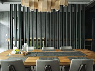 勻境設計 Unispace Designs Modern dining room Grey
