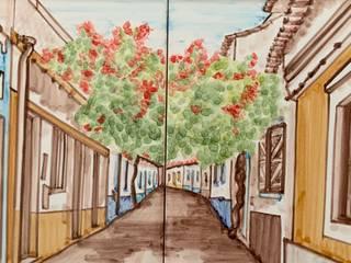 Paredes y pisos de estilo rústico de Arti Arte Azulejar by Carla Guerreiro Rústico
