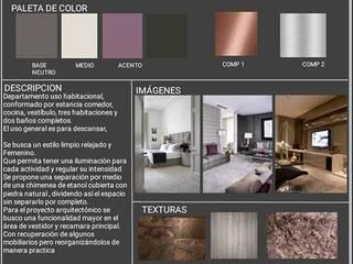 Departamento uso Habitacional: Casas de estilo  por Arq. Vianey Pineda