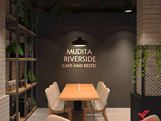 Mudita Riverside Gastronomi Gaya Industrial Oleh Dwello Design Industrial