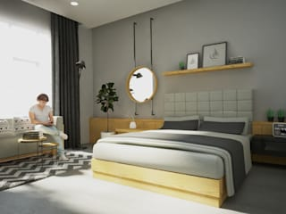 Industrial style bedroom by Dwello Design Industrial Plywood