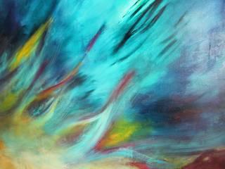 Obra de Arte para Departamento de Playa de Mayra Gutierrez Art Studio Mediterráneo