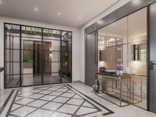 ANTE MİMARLIK Pasillos, vestíbulos y escaleras de estilo moderno