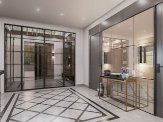 ANTE MİMARLIK Modern Corridor, Hallway and Staircase