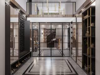 ANTE MİMARLIK Corridor, hallway & stairsClothes hooks & stands