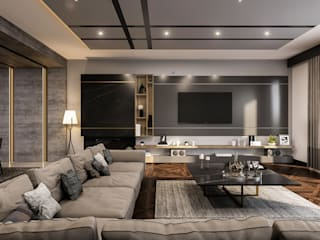 ANTE MİMARLIK Modern living room Grey