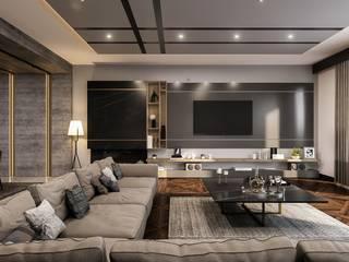 ANTE MİMARLIK Salones de estilo moderno Gris