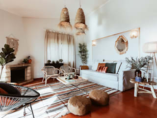 러스틱스타일 거실 by Rafaela Fraga Brás Design de Interiores & Homestyling 러스틱 (Rustic)