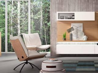 Salón de diseño composición 17 Ilusion Room Cubimobax:  de estilo  de CUBIMOBAX S.L