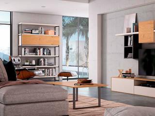 Salón de diseño composición 29 Ilusion Room Cubimobax:  de estilo  de CUBIMOBAX S.L