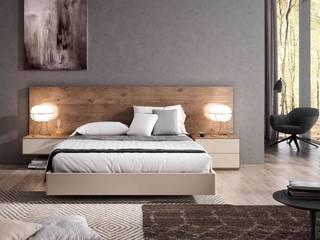 Dormitorio Loft Madera Iluison Relax Cubimobax:  de estilo  de CUBIMOBAX S.L