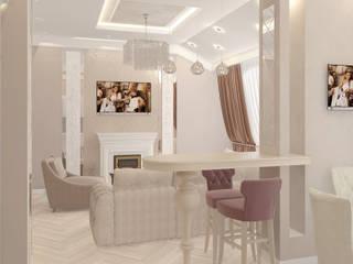 Дизайн интерьера в Калининграде. 4LifeDesignStudioが手掛けたリビング