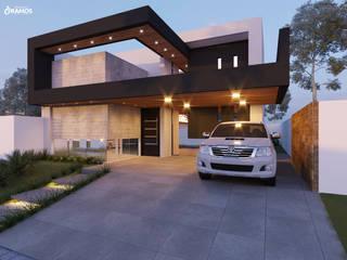 Condominios de estilo  por Alessandro Ramos Arquitetura, Moderno