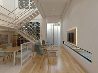 TSforTC House : Ruang Keluarga oleh Abil Architect , Tropis