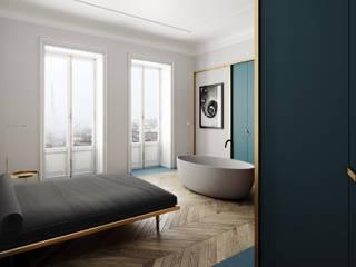 Квартира в Париже Спальня в стиле минимализм от ECOForma Минимализм