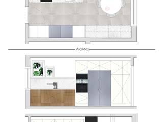 Design de Interiores - Cozinha: Cozinhas  por Dar Azos - Oficina de Design,Moderno
