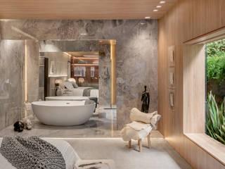 Projekty,  Sypialnia zaprojektowane przez karen feldman arquitetos associados, Nowoczesny