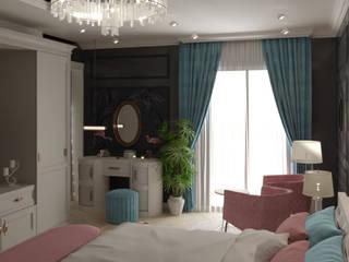 تصميم غرفة نوم رئيسية:  غرفة نوم تنفيذ AmiraNayelDesigns, كلاسيكي