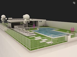 9 Viento Arquitectos Садовий басейн Бетон Білий