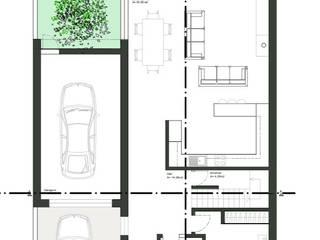 Planta 0: Casas unifamilares  por Teresa Ledo, arquiteta,Minimalista