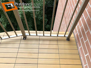 Outdoor Floors Toronto Balkon Komposit Kayu-Plastik Amber/Gold