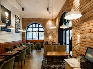 Salas de jantar industriais por Дизайн Студия 33 Industrial