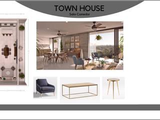 Proyecto Town House Cancún:  de estilo  por Diseñadora Mariana García,