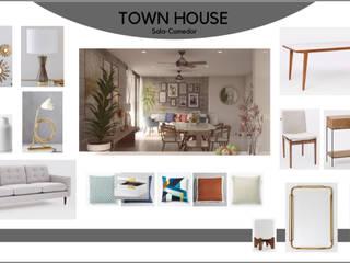 Proyecto Town House Cancún:  de estilo  por Diseñadora Mariana García