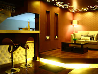Modern Media Room by Exxo interior Modern